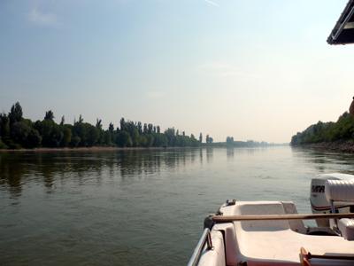 Visita in barca sul fiume Po